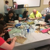 Artvention@EKU 2nd Group Engaging in Tribute Flag Making Activity