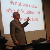 Frank Campbell speaking about the impacts of sudden and traumatic loss.